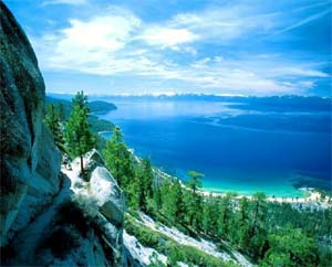 lake tahoe from mountain
